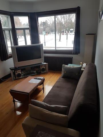 Appartement avec belle vue sur le Stade Olympique!