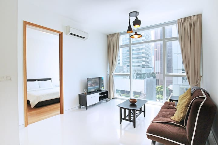 Stylish 1BR Located 7 mins from Tg Pagar MRT