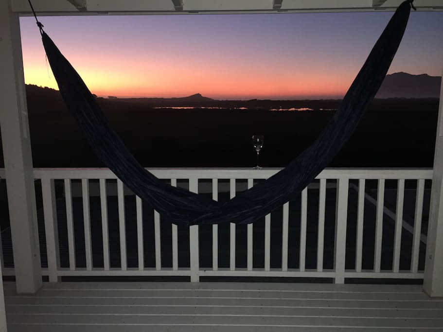 The view from your bed just after sunset :)