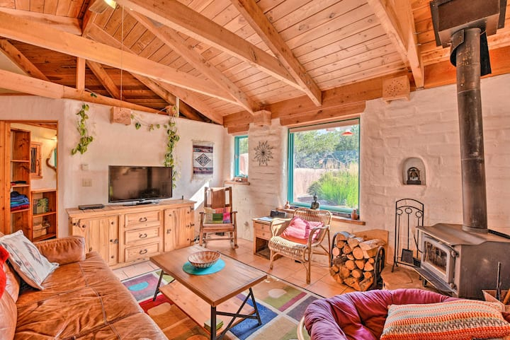 Eclectic Adobe Crestone Cottage w/Patio+Yard!