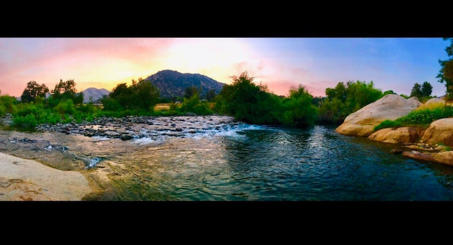 Relax and enjoy the river scene right out your back door.