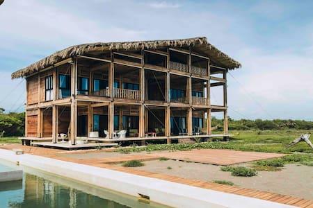 Itaca ecolodge home.  Costa de Chiapas