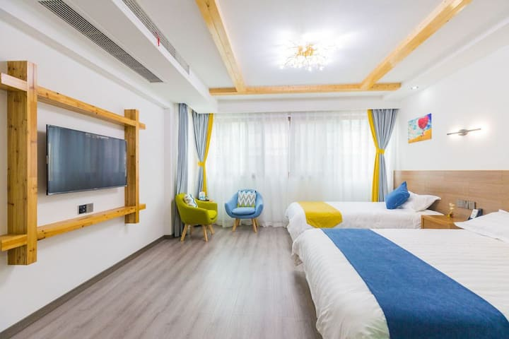 A2普陀山朱家尖南沙HOMESTAY,3或4人家庭房30平米,2张床免费早餐A2