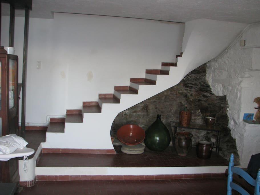 escalier accès 1er