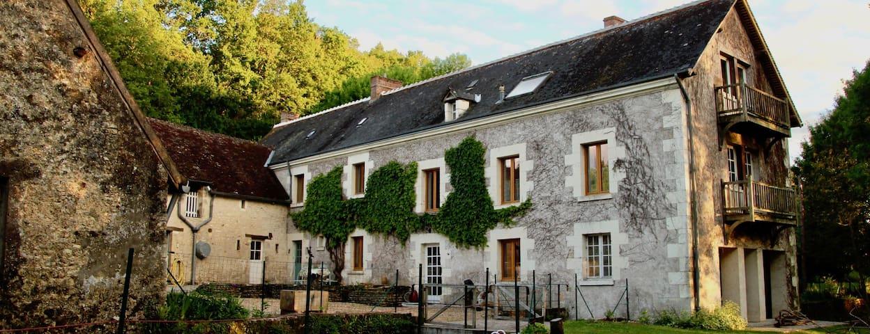 Peaceful mill in the Loire Valley near Montrésor.