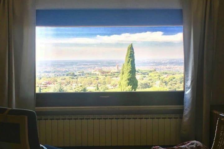 Vista su Roma dalla nostra suite