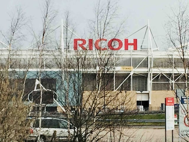 A view of the Ricoh from the kitchen window.