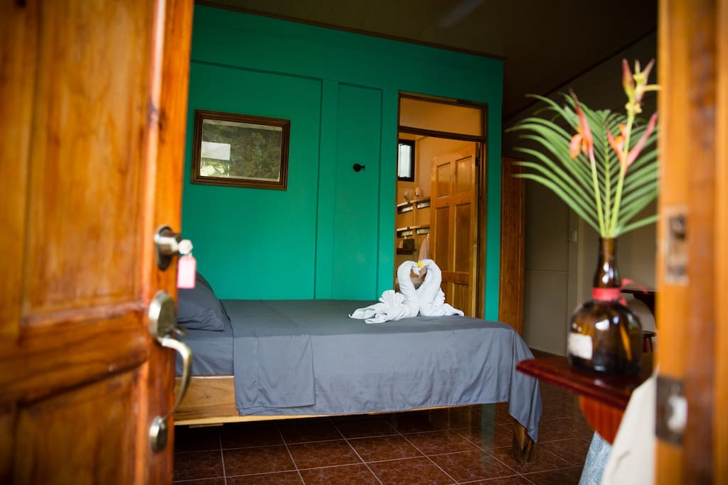 Colorful, clean, and comfortable - each of the 4 cabinas available is furnished almost identically!