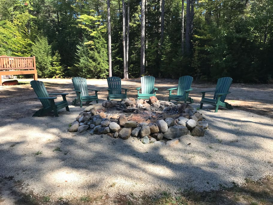 Great fire pit & we have plenty of wood