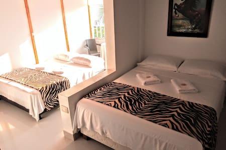 Habitación 2, 3 o 4  pers. baño privado, vista mar