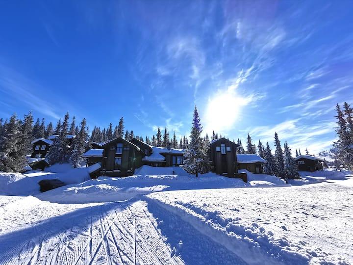 Flott storhytte på Kvitfjell til leie. Ski in/out.