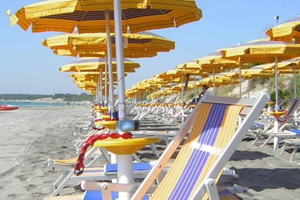 Servizio spiaggia