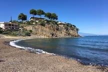 Spiaggia di sassi Baia del silenzio