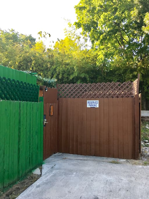 Reserved Parking Area with Private Gated Entrance