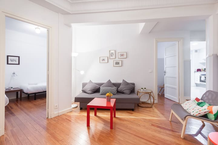 Apartment :5 minutes from the Gros Beach