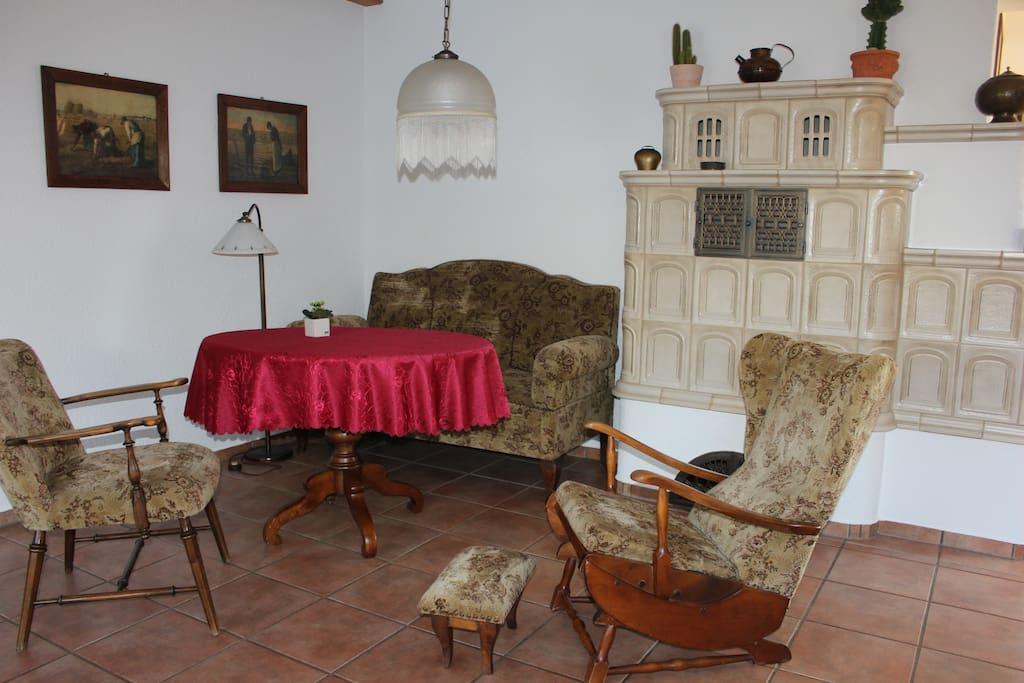Sitzecke im Wohnberech