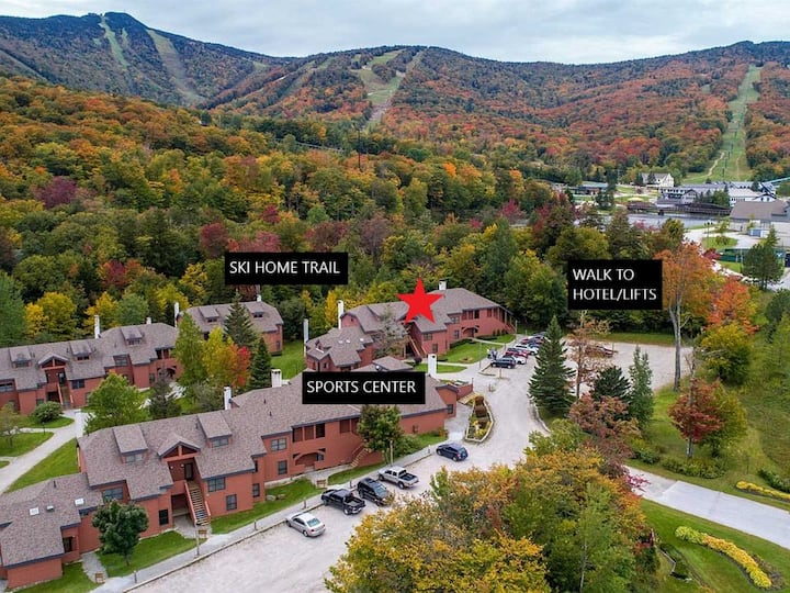Trailside! Walk to lift, ski home. Closest unit to hot tub, lifts & trail!