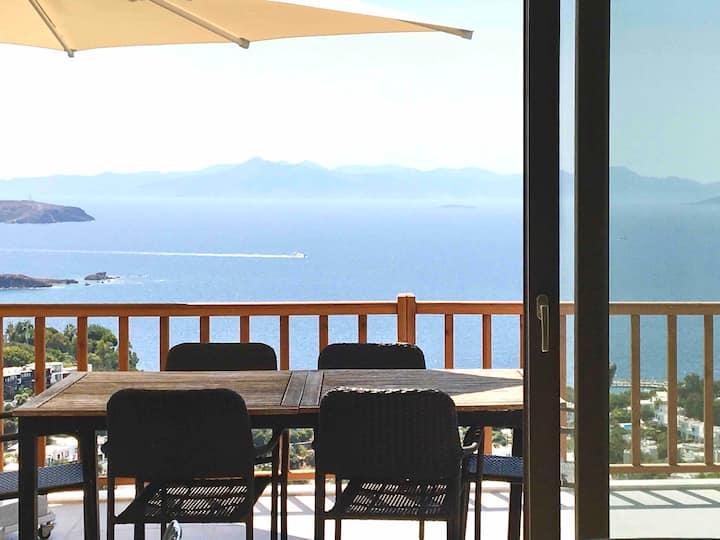 Myndos Villa's design apartment with amazing view