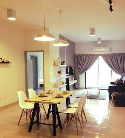 Cozy Designed, Clean & Comfortable 3Room Apartment - Kajang - Daire
