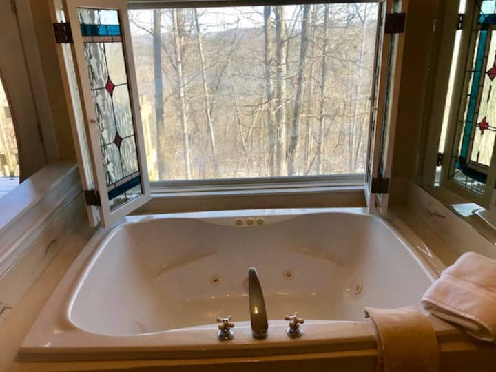 Ozark Spring Cabins Gale's Lair #5, King Bed, Giant Spa Tub, Kitchen, Secluded, Private Deck W/ View
