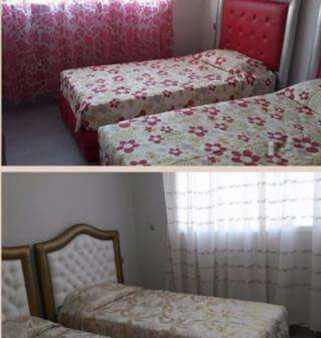 Deux chambres / 4 lits simples