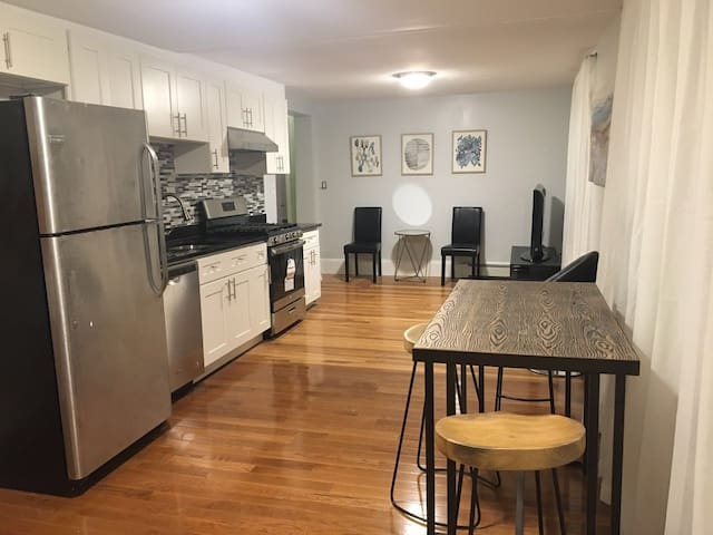 3 beds 1 bath walk to T, 15 min airport and Boston