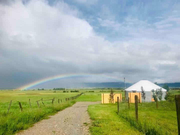 Stylish Yurt with Unobstructed Teton Views