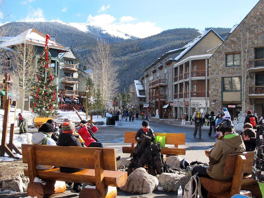Walk to ski village and enjoy many shops and restaurants.