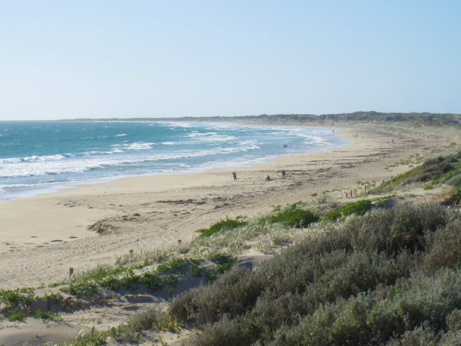 Secret Harbour beach - renowned by surfers