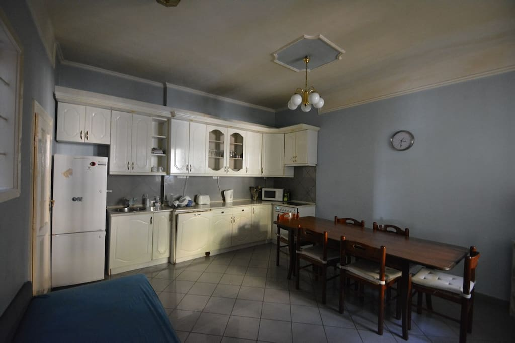 Huge kitchen and dining with living function