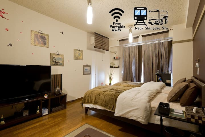 ★01 Central Shinjuku Modern Japanese styled room★