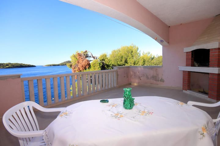 Two bedroom apartment near beach Prižba, Korčula (A-176-a)