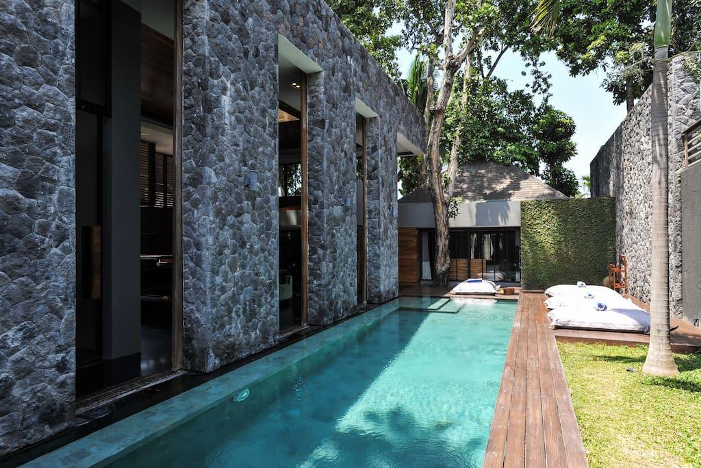 Swimming Pool (private) from entering Villa Dua