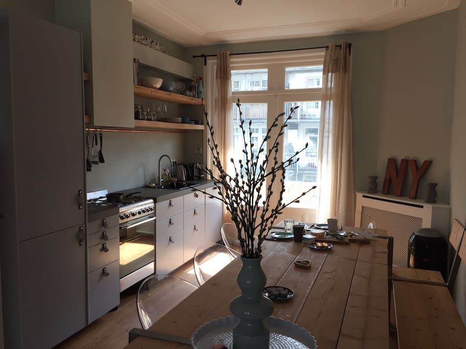 Brand new kitchen including dishwasher and relevant cooking tools, access to southside balcony