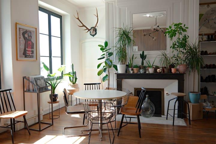 Bel Appartement Bohème-Chic Design Centre Ville