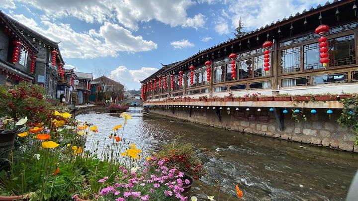 【诗和远方】丽江古城里·临主街·含早餐·二楼星河大床房·免费品茶·免费私人订制行程·可洗衣