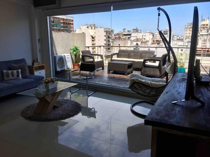 Grand terrace apartment!