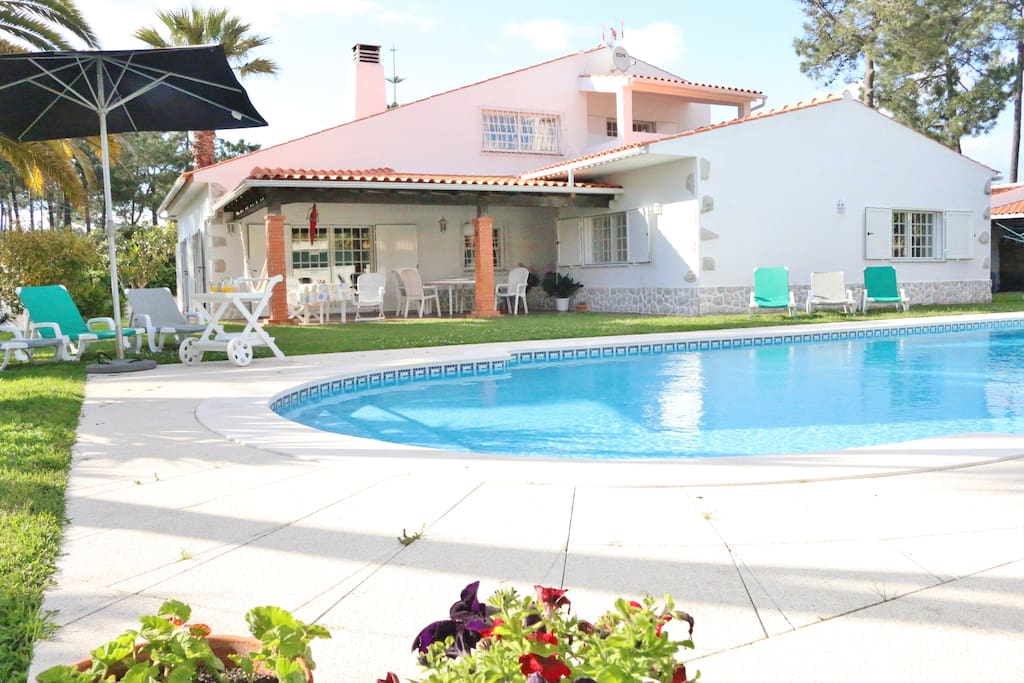 Villa Swimming Pool Beach Lisbon Villas For Rent In Verdizela Portugal