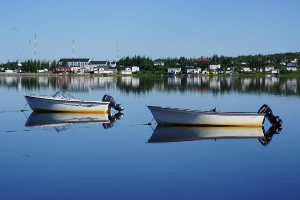 Your view of Cartwright on a calm morning, Experience Labrador tour boats