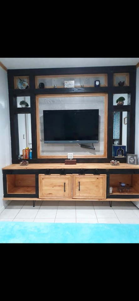 Modern tv stand in the room