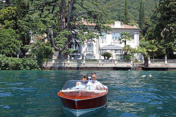 Italy, Lake Garda, Waterfront Historical Villa