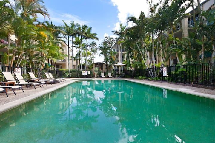 "Bilinga Beach Bliss! ""Palm Trees Ocean Breeze"""