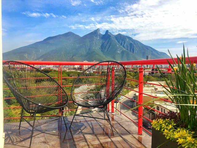La Mejor vista de Monterrey , elegante loft.