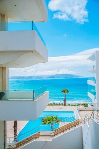 CAP TINGIS Appartement 1 ch vue sur Mer Tanger