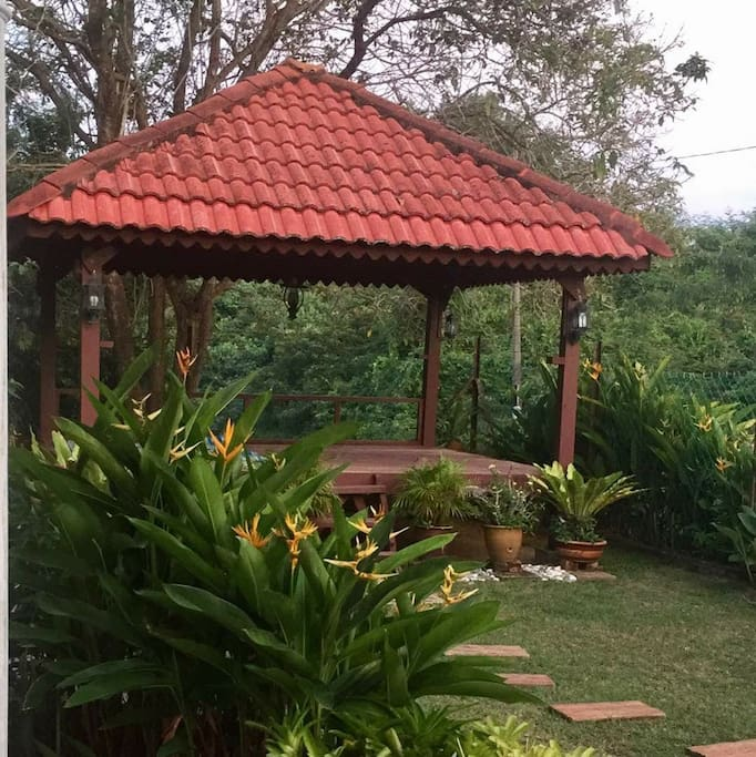 Gazebo to relax and unwind located within the compound