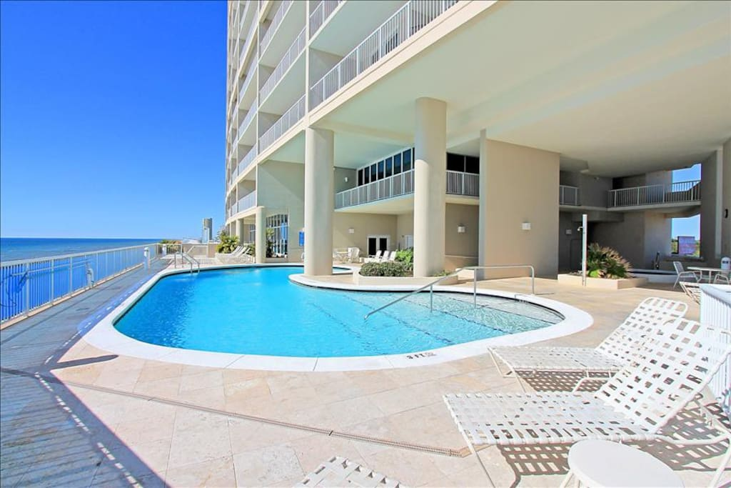 Elevated Gulf Front Pool