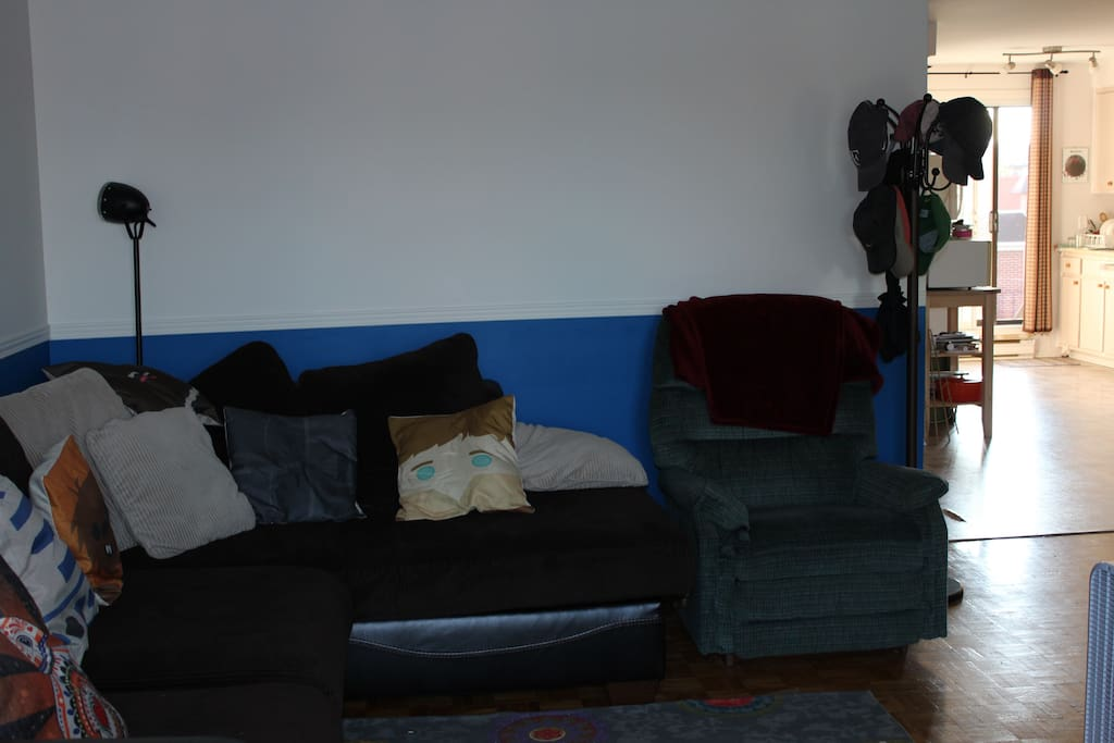 Grand canapé d'angle confortable