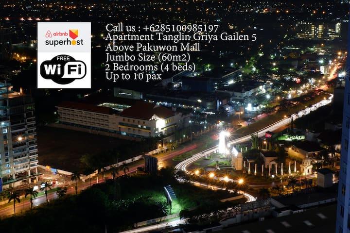 2BR Tanglin Jumbo, 6bed,wifi@ Pakuwon Mall (10px)