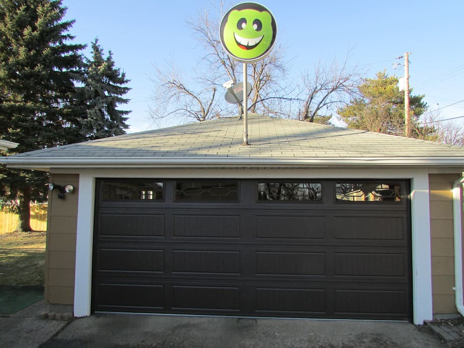 Access to garage and if you choose turn on the light up smiley for fun ambience.