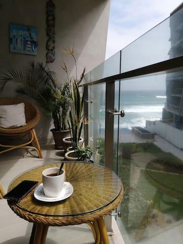 Lindo departamento de playa con vista al mar